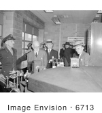 #6713 Visitors At The Aircraft Engine Research Laboratory 1943