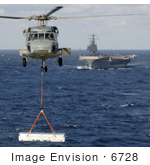 #6728 Aircraft Carrier And Helicopter