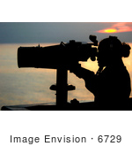 #6729 Man Using Binoculars