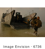 #6736 Unloading Equipment From Utility Landing Craft