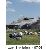 #6756 Helicopters And Ambulances At The Pentagon September 11th 2001