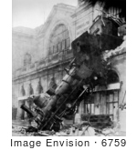 #6759 1895 Montparnasse Station Train Wreck by JVPD