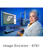 #6761 Picture Of An Electron Microscopist And Microbiologist - Janice Carr - Cdc