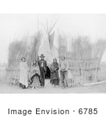 #6785 Arappaho Indians By Tipi