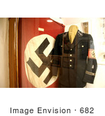 #682 Photograph of a Nazi Flag and Uniform on Display by Jamie Voetsch