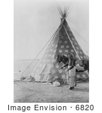 #6820 Spotted Blackfoot Indian Tipi