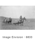 #6833 Atsina Native Americans Moving Their Camp