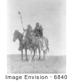 #6840 Atsina Native Chiefs On Horses