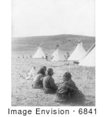 #6841 Indians And Tipis At Camp Gossips