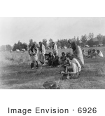 #6926 Stock Image: Sun Dance Ceremony, Cheyenne Indians by JVPD