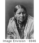 #6946 Stock Photograph of a Cheyenne Native American Woman by JVPD