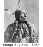 #6964 Stock Image of a Cheyenne Native American Indian Named Wolf Robe by JVPD