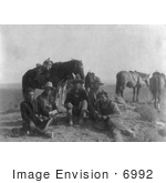 #6992 Edward S Curtis And Four Apsaroke Indians