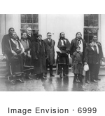 #6999 Stock Image Of Osage Indians At The White House