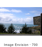 #700 Photo Of The Sign And View At Lone Ranch Beach Oregon