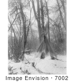 #7002 Stock Image Of A Tipi In Winter