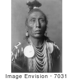 #7031 Stock Photograph: Native American Man Called Medicine Crow