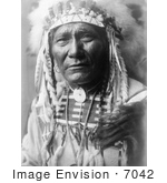 #7042 Stock Photography: Crow Indian Man by the Name of Ghost Bear by JVPD