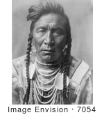 #7054 Stock Photography: Crow Native American Called Strike On his Hea by JVPD
