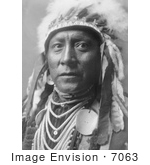 #7063 Stock Photography: Crow Indian Called Old White Man