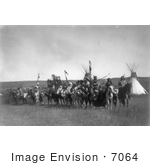 #7064 Stock Photography: Apsaroke Native Americans On Horses