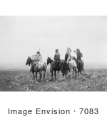 #7083 Stock Photography: Indians On Horses