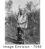 #7092 Stock Image Of A Hidatsa Indian Named Long Time Dog