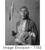 #7102 Stock Photography: Crow Indian Man Called Tries His Knee