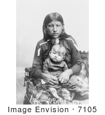 #7105 Stock Image Of An Osage Mother And Child