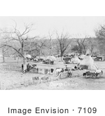 #7109 Stock Image Of An Osage Indian Camp