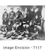 #7117 Stock Image Of An Osage Indian School Football Team