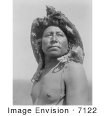 #7122 Stock Photography: Crow Indian The Eagle Medicine-Man