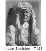 #7123 Stock Photography: Crow Indian Man, Bear Cut Ear by JVPD