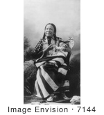 #7144 Stock Image: Red Deer Sioux Indian With Baby