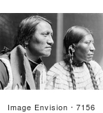 #7156 Stock Image: Charging Thunder With Wife Sioux Indians