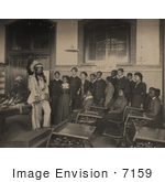 #7159 Stock Image: Louis Firetail In A Classroom
