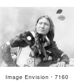 #7160 Stock Image: Sioux Man Called Sunflower