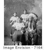 #7164 Stock Image: Sioux Family