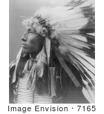 #7165 Stock Image: Sioux Indian Named James Lone Elk