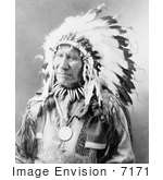 #7171 Stock Image: Chief American Horse, Sioux Indian by JVPD