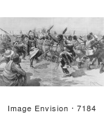 #7184 Stock Image: Sioux Indian Ghost Dance