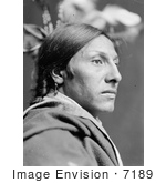 #7189 Stock Image: Sioux Indian Man, Amos Two Bulls by JVPD