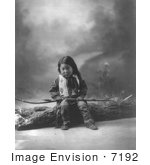 #7192 Stock Image: Sioux Indian Child, John Lone Bull by JVPD