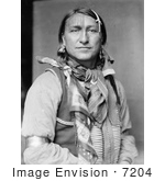#7204 Stock Image: Sioux Indian Man, Joe Black Fox by JVPD