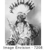 #7208 Stock Image: Pretty Hawk Sioux Indian Chief