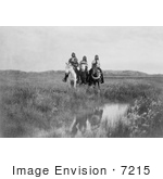 #7215 Stock Image: Sioux Indians On Horses