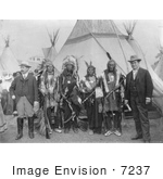 #7237 Stock Image: William Jennings Bryan And Sioux Chiefs