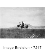 #7247 Stock Image: Sioux Indians On Horses