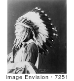 #7251 Stock Image: Sioux Indian Named Afraid Of Eagle