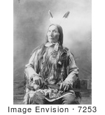 #7253 Stock Image: Sioux Indian Chief, Yellow Hair by JVPD